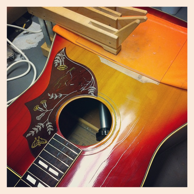 Trying to bring this lawsuit era Ibanez 12 string back to life... #guitar #guitartech #guitarrepair #ibanez #luthier #luthierslife #whatsonyourbench